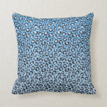 Estampado leopardo de Oldschool en azul y blanco Almohada