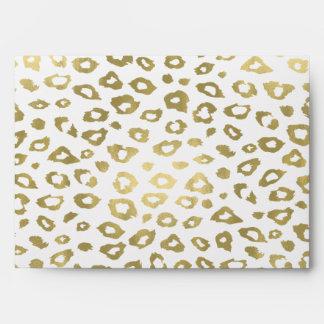 Estampado leopardo de Ombre del oro Sobre