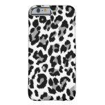 Estampado leopardo de PixDezines Funda De iPhone 6 Barely There