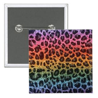 Estampado leopardo del arco iris del brillo