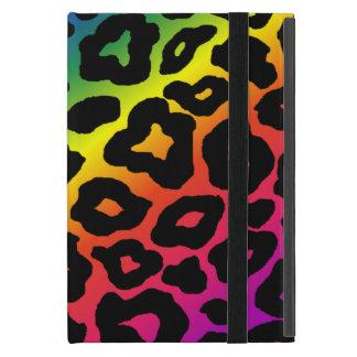 Estampado leopardo del arco iris iPad mini cárcasas