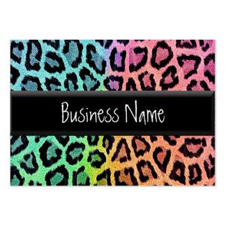 estampado leopardo del arco iris plantilla de tarjeta de visita