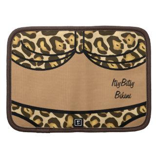 Estampado leopardo del bikini planificadores