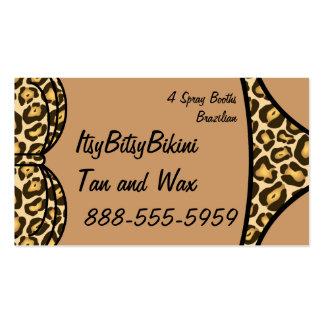 Estampado leopardo del bikini tarjeta de visita