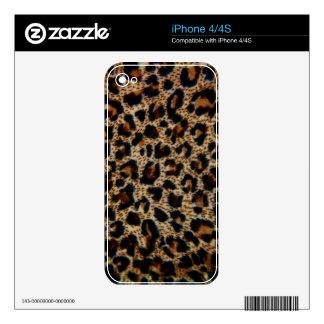 estampado leopardo del iPhone 4/4S Calcomanías Para iPhone 4S