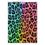 Estampado leopardo del teñido anudado tarjetón