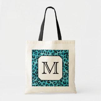 Estampado leopardo del trullo, monograma de encarg bolsa tela barata