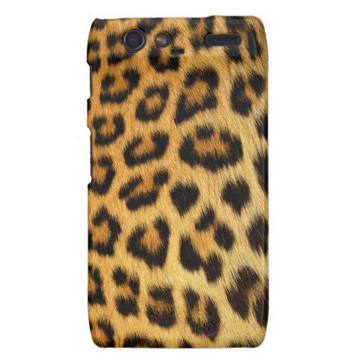 Estampado leopardo droid RAZR carcasas