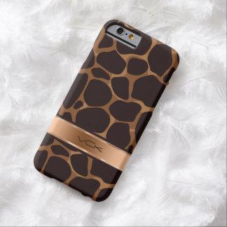 Estampado leopardo elegante de Brown y del cobre Funda Para iPhone 6 Barely There