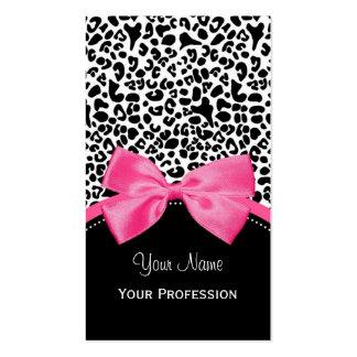 Estampado leopardo elegante de la moda con la cint plantillas de tarjetas de visita