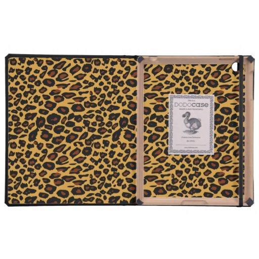 Estampado leopardo elegante iPad cobertura
