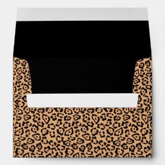 Estampado leopardo elegante sobres