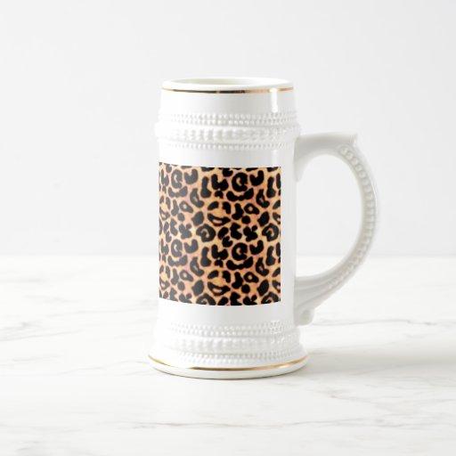 Estampado leopardo, estampado de animales jarra de cerveza