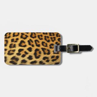 Estampado leopardo etiquetas bolsas