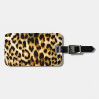 Estampado leopardo etiquetas para equipaje