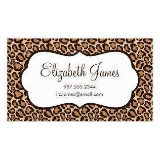 Estampado leopardo femenino tarjetas de visita