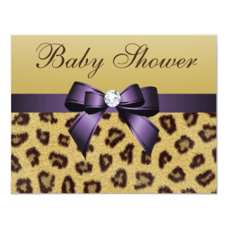 Estampado leopardo, fiesta de bienvenida al bebé comunicado