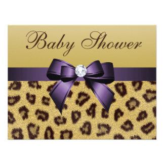 Estampado leopardo fiesta de bienvenida al bebé p comunicado