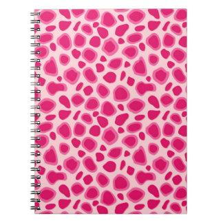 Estampado leopardo - fucsia y rosa claro libreta