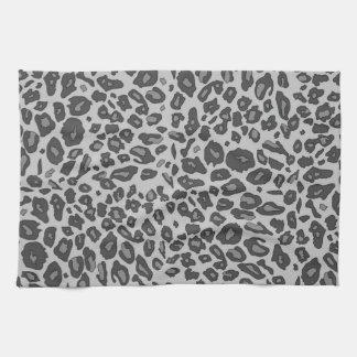 Estampado leopardo gris toallas de mano