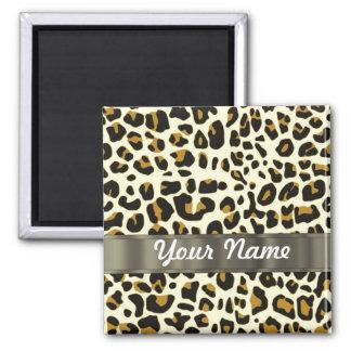 estampado leopardo imán cuadrado