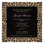 Estampado leopardo invitación personalizada