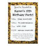 Estampado leopardo invitaciones personalizada