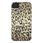 Estampado leopardo iPhone 4 Case-Mate coberturas