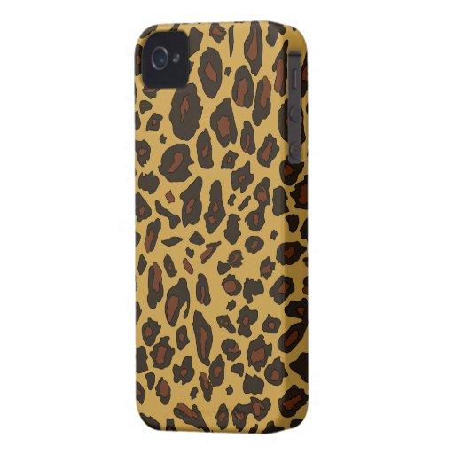 Estampado leopardo iPhone 4 protector