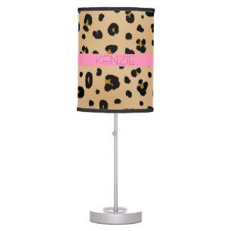 Estampado leopardo + Lámpara personalizada rosa