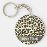 estampado leopardo llaveros personalizados