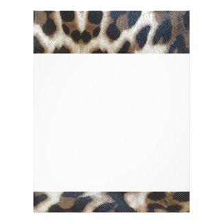 Estampado leopardo membrete