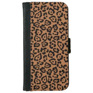 Estampado leopardo moderno funda cartera para iPhone 6