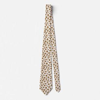 Estampado leopardo - moreno de color topo y blanco corbatas personalizadas