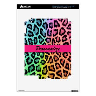 """""""Estampado leopardo multicolor """" Pegatina Skin Para iPad 3"""