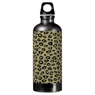 Estampado leopardo negro del oro