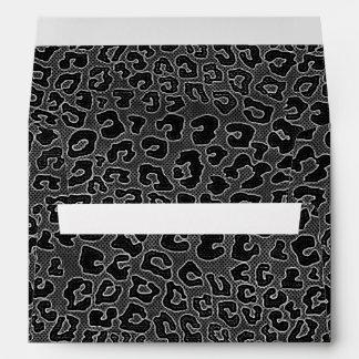 Estampado leopardo negro punteado sobres