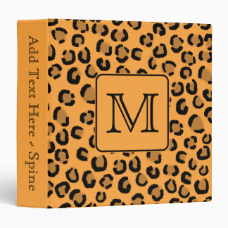 Estampado leopardo negro y anaranjado Monograma d