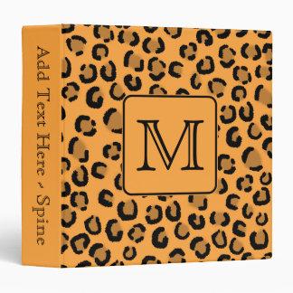 Estampado leopardo negro y anaranjado. Monograma d