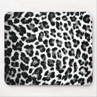 Estampado leopardo negro y blanco alfombrilla de raton