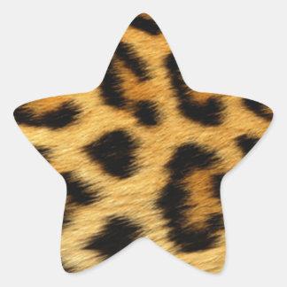 Estampado leopardo pegatina en forma de estrella