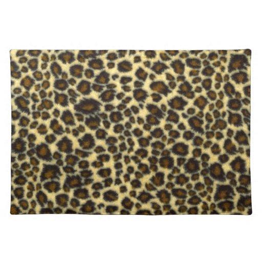 Estampado leopardo Placemats Manteles Individuales