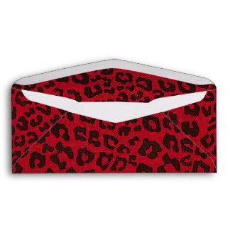 Estampado leopardo punteado del rojo del arándano sobre