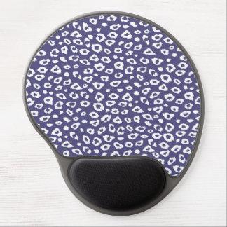 Estampado leopardo púrpura alfombrillas con gel
