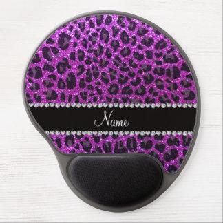 Estampado leopardo púrpura de neón conocido de enc alfombrilla de ratón con gel