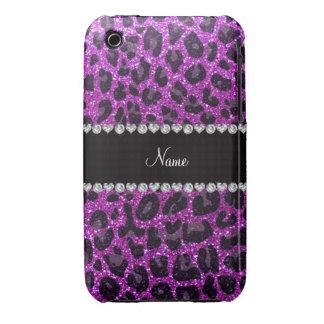 Estampado leopardo púrpura de neón conocido de enc iPhone 3 carcasas