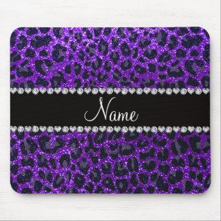 Estampado leopardo púrpura del brillo del añil con tapetes de raton