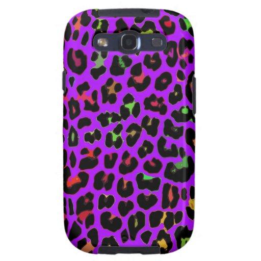 Estampado leopardo púrpura del estallido galaxy SIII coberturas