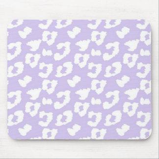Estampado leopardo púrpura del guepardo tapetes de ratones