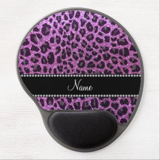 Estampado leopardo púrpura en colores pastel conoc alfombrilla de ratón con gel